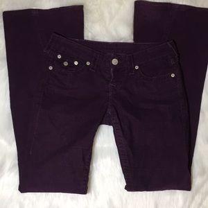 Purple True Religion Corduroy Pants Size 26